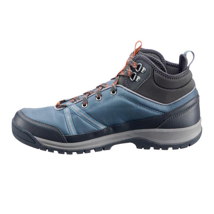 Wanderschuhe Naturwandern NH150 Mid Wasserdicht Herren grau/blau