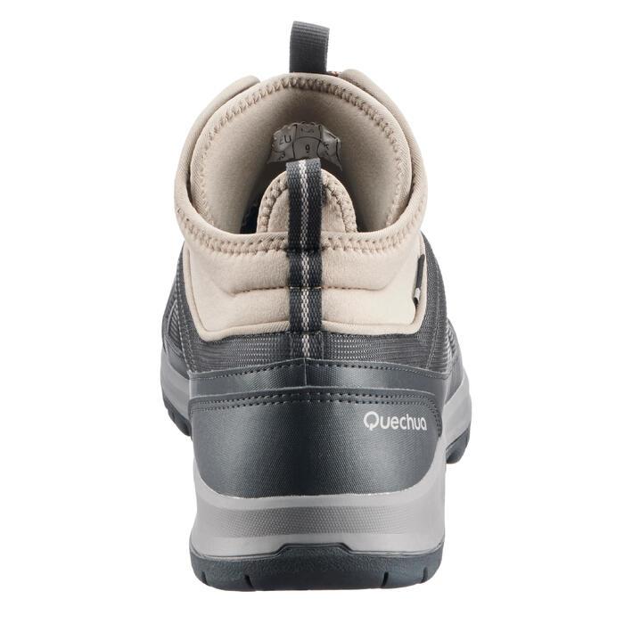 Chaussure de randonnée nature NH300 mid imperméable noire homme