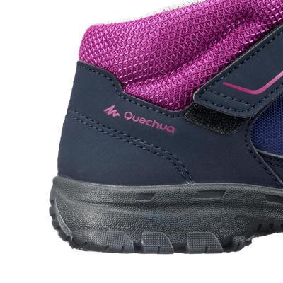 Chaussures de randonnée enfant montantes MH100 MID KID bleues/violettes 24 AU 34