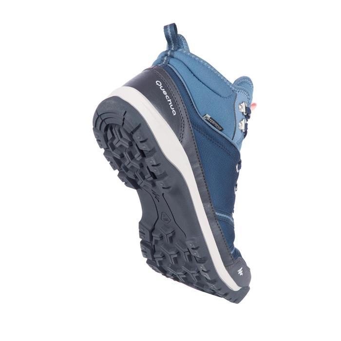 Wandelschoenen voor dames NH300 mid waterdicht blauw dames