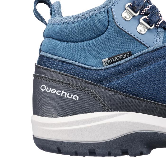 Zapatillas de senderismo en la naturaleza NH300 mid impermeable azul mujer