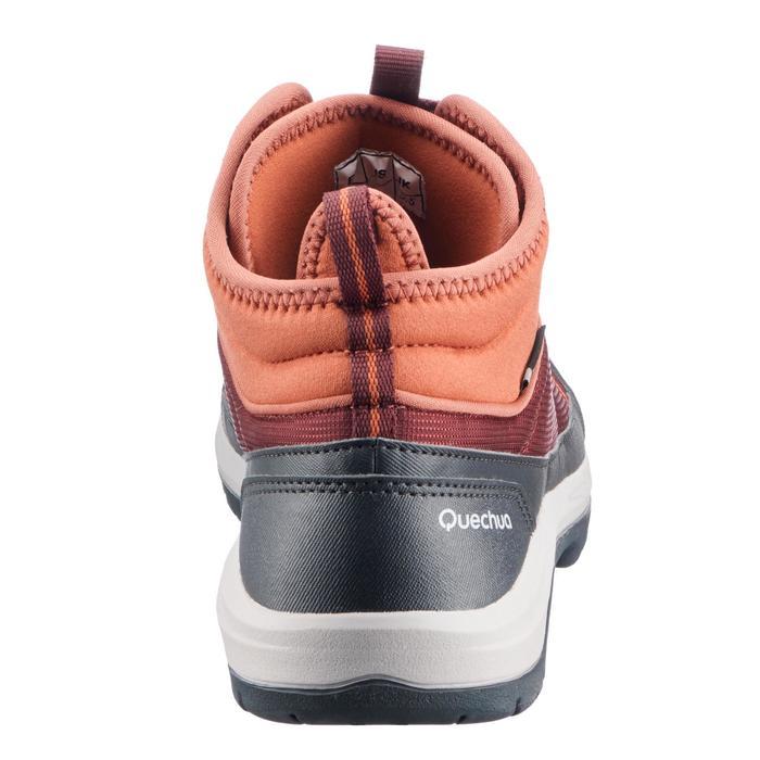 Wandelschoenen voor dames, halfhoog, NH300, waterdicht, rood