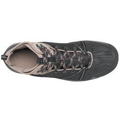 Chaussures de randonnée nature NH150 mid imperméable noire homme