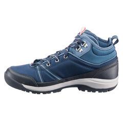 Schoenen voor wandelen in de natuur NH150 mid Protect blauw dames