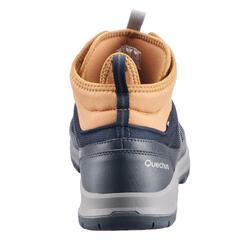 Chaussure de randonnée nature NH300 mid imperméable bleu marron homme