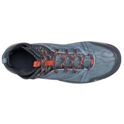Waterdichte schoenen voor natuurwandelen NH150 mid blauw grijs heren