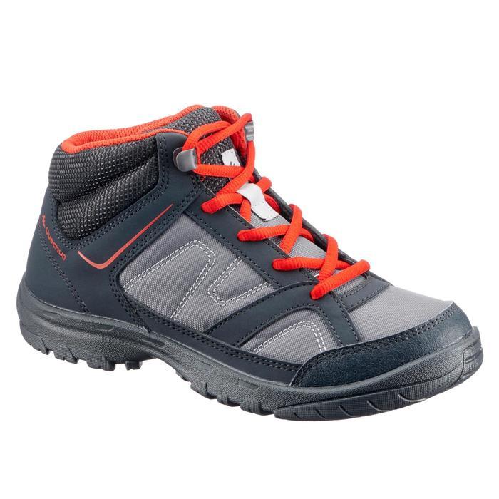 Chaussures de randonnée enfant NH100 Mid JR noir/rouge