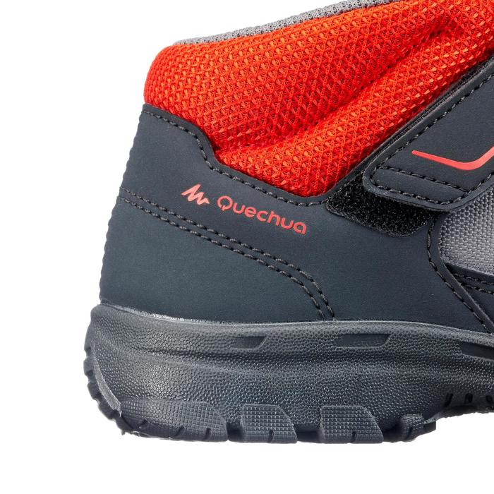 Botas de senderismo niños NH100 Mid KID Negro/Rojo