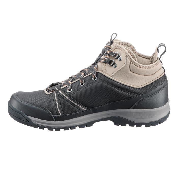 Botas de senderismo en la naturaleza NH300 mid impermeable negro hombre