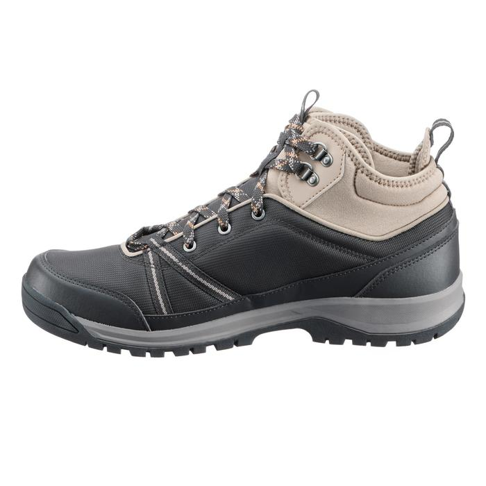 男款郊野登山健行防水中筒鞋 MH150-黑色