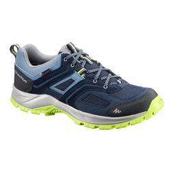 男士防水山區健行運動鞋 MH100 藍色 綠色