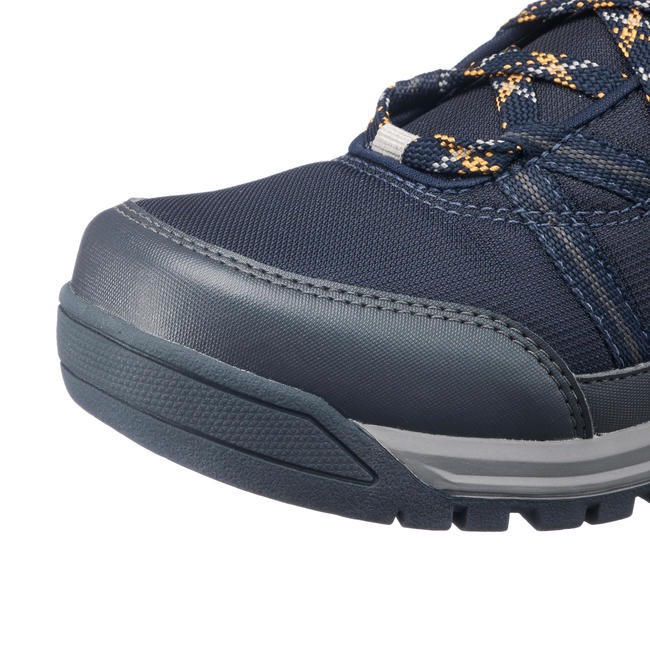 Men's Hiking Shoes WATERPROOF (Mid Ankle) NH150 - Blue Brown