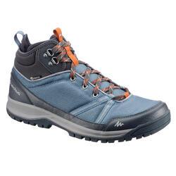 Men's NH300 waterproof mid hiking shoe in brown blue
