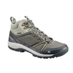 Chaussure de randonnée nature NH300 mid imperméable vert/kaki femme