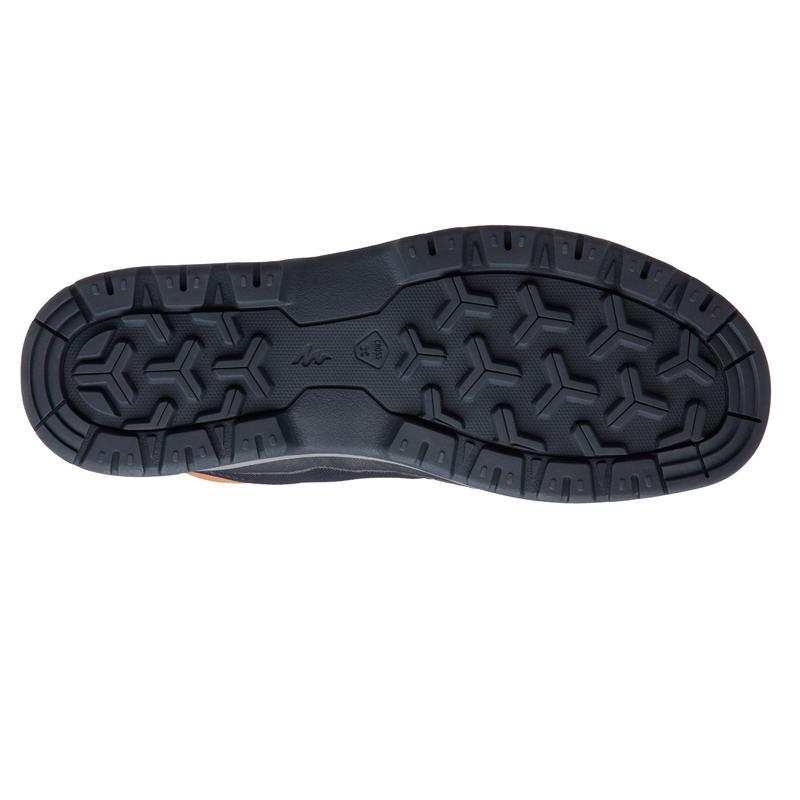 Men's Hiking Shoes NH150 (Mid Ankle) Waterproof - Blue Brown