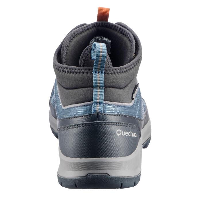 Botas de senderismo en la naturaleza NH300 mid impermeable azul hombre