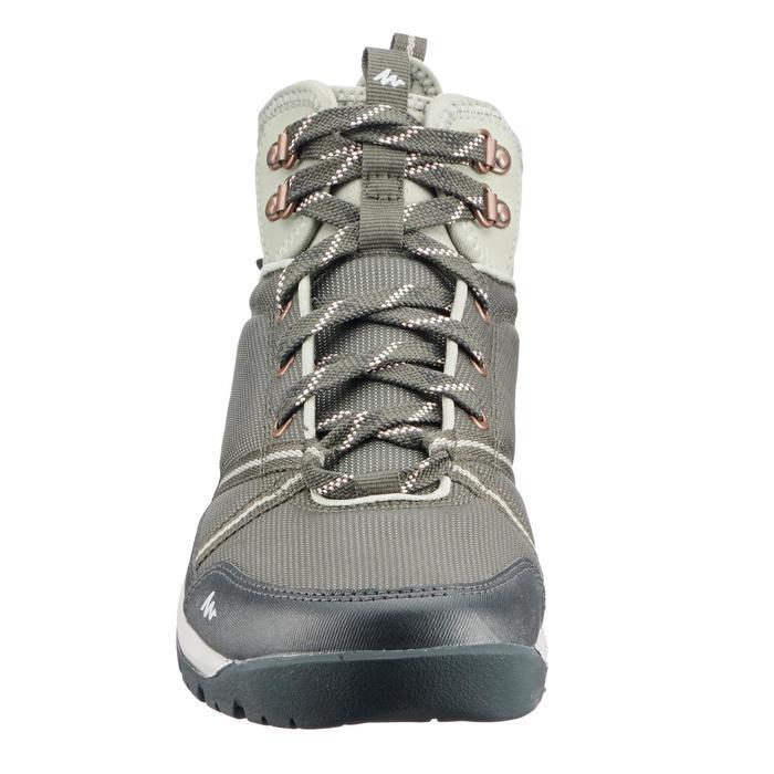 Chaussures de randonnée nature NH150 mid Protect kaki femme