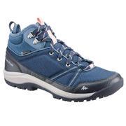 Srednje visoki ženski vodoodporni čevlji za pohode v naravi NH300 – modri