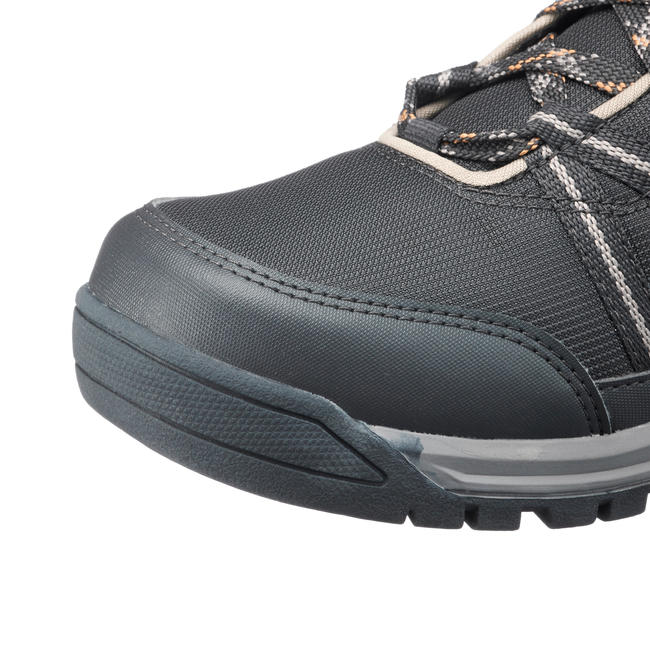 Men's Hiking Shoes WATERPROOF (Mid Ankle) NH150 - Black