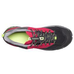 Waterdichte bergwandelschoenen voor dames MH500 roze/groen
