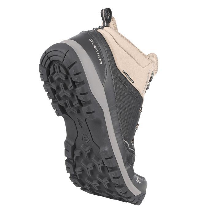 Waterdichte schoenen voor wandelen in de natuur NH150 mid zwart heren