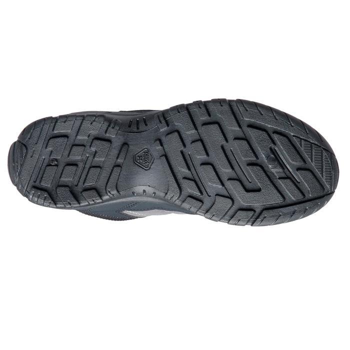 Chaussures de randonnée enfant montantes MH100 Mid JR noires/rouges 35 AU 38