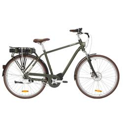 Elektrische fiets / E-bike heren Elops 920 E stadsfiets donkergroen