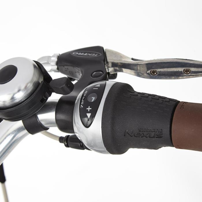 e bike 28 citybike elops 920 damen weiss b 39 twin decathlon. Black Bedroom Furniture Sets. Home Design Ideas