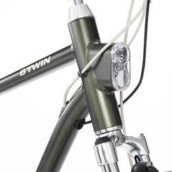 Elektrische fiets / E-bike Elops 920 hoog frame stadsfiets donkergroen