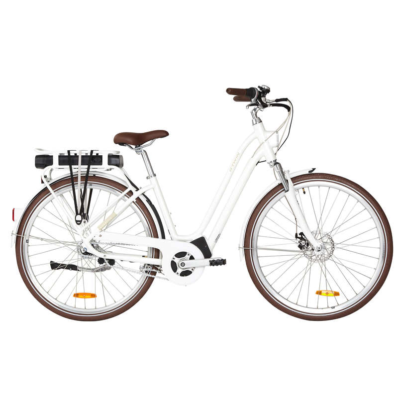 ELECTRIC URBAN BIKES Cycling - Elops 920 E Step Over Classic Electric Bike - White ELOPS - Bikes
