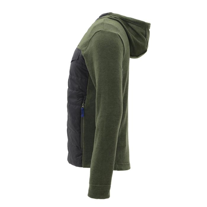 Men's nature hike pullover Arpenaz Hybrid brown - 1268844