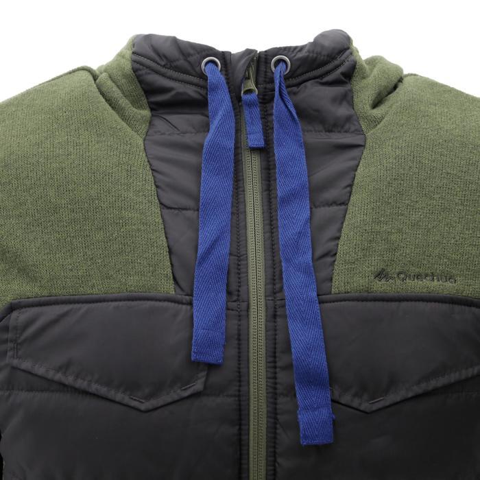 Men's nature hike pullover Arpenaz Hybrid brown - 1268845