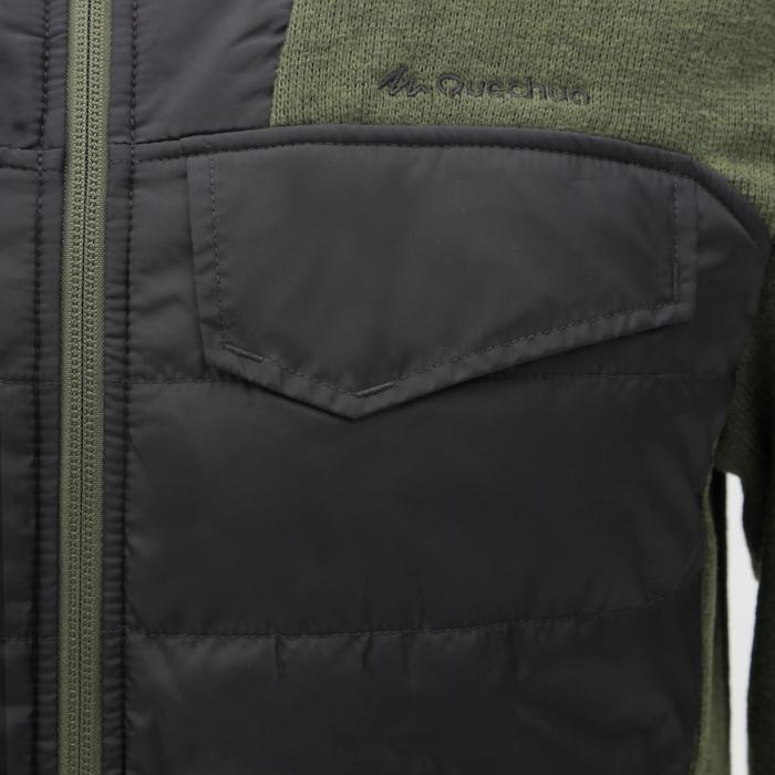 Men's nature hike pullover Arpenaz Hybrid brown - 1268849