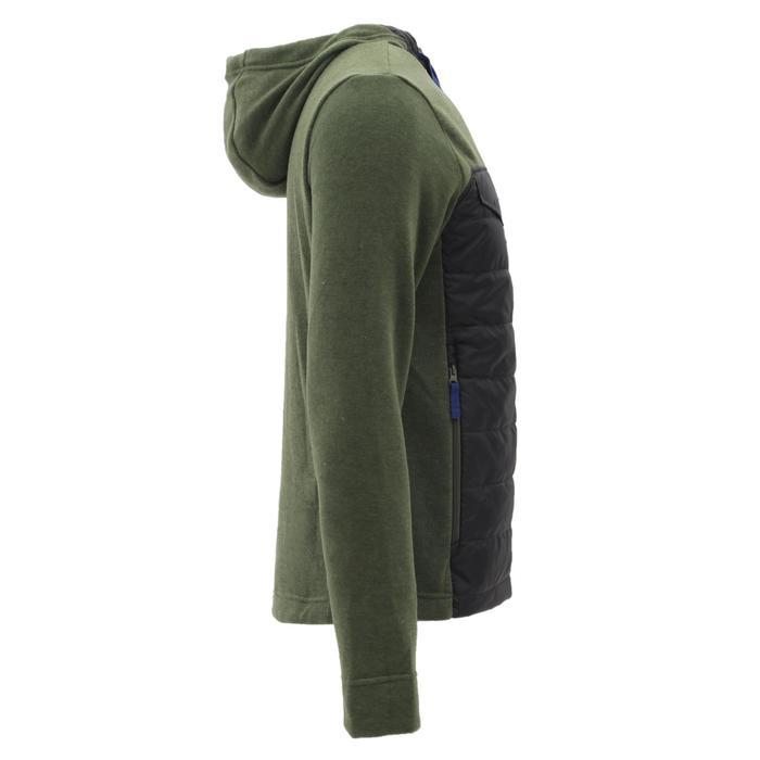 Men's nature hike pullover Arpenaz Hybrid brown - 1268850