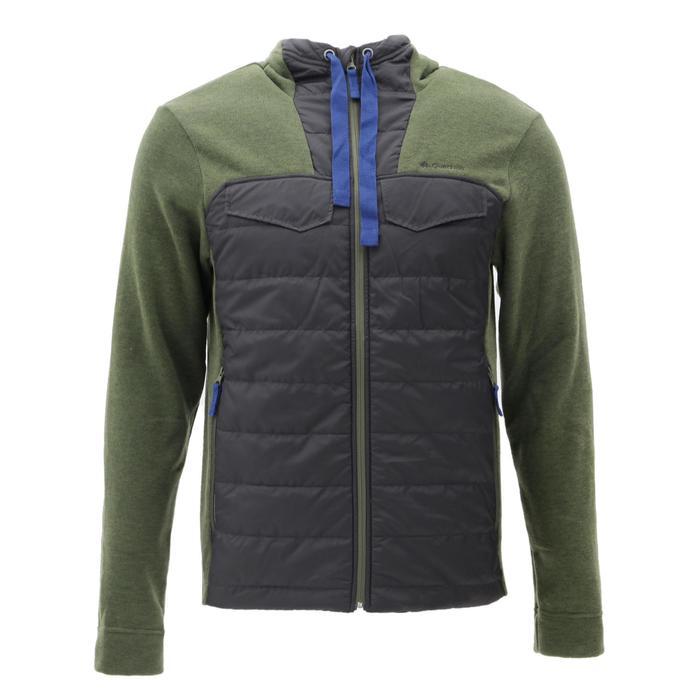 Men's nature hike pullover Arpenaz Hybrid brown - 1268851