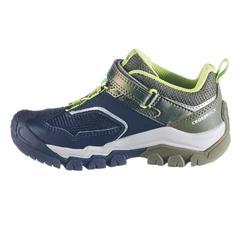 Lage bergwandelschoenen met klittenband voor jongens Crossrock kaki