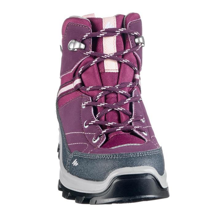 Botas de montaña y trekking niños impermeable talla 28-38 Forclaz 500 violeta