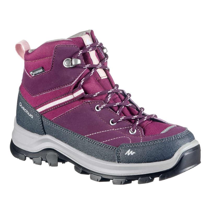 SHOES BOY Hiking - MH500 Kids Waterproof Walking Boots - Purple  QUECHUA - Outdoor Shoes