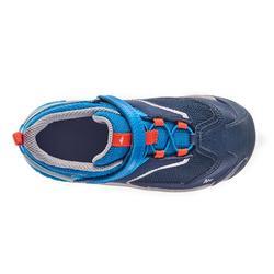 Wanderschuhe Crossrock Low mit Klettverschluss Kinder Jungen blau