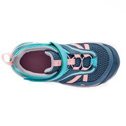 Chaussures de randonnée montagne basses avec scratch fille Crossrock turquoise