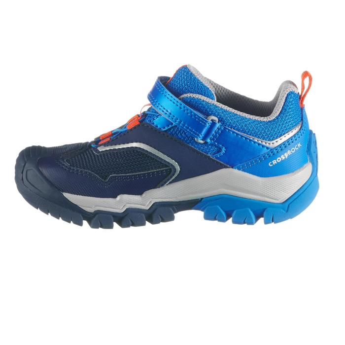Lage bergwandelschoenen met klittenband voor jongens Crossrock blauw