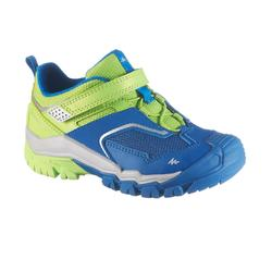Zapatillas de senderismo en montaña júnior Crossrock KID azul/fluorescente