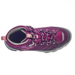 Chaussures de randonnée montagne enfant MH500 montantes imperméables violettes