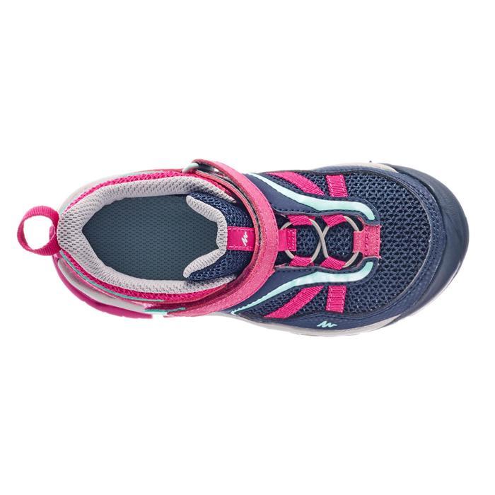 Wanderschuhe Crossrock Klett Kleinkinder Mädchen Gr. 24-34 blau/rosa