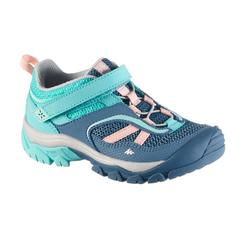 VELCRO MOUNTAIN HIKING SHOES - CROSSROCK - TURQUOISE - KIDS - SIZE 24 TO 34