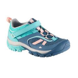 Zapatillas de montaña y senderismo niños Crossrock azul turquesa talla 24 a 34