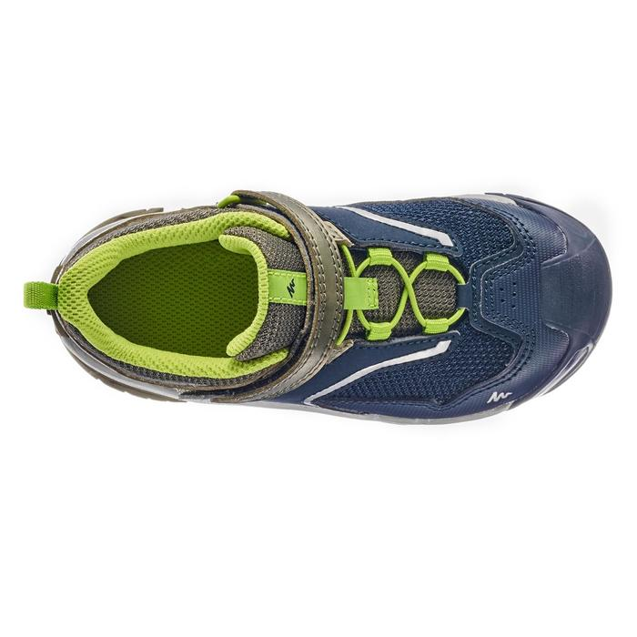 Chaussures de randonnée montagne basses avec scratch garçon Crossrock KID kaki
