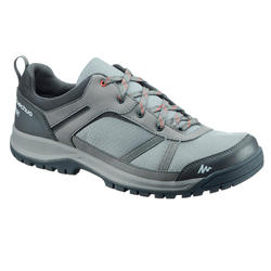 Men's Waterproof Hiking Shoes Arpenaz 100 - Green/Grey