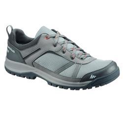 Zapatillas de senderismo en la naturaleza NH300 impermeable verde/gris hombre