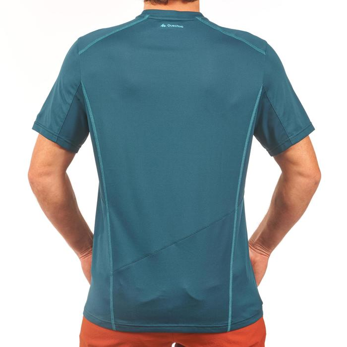 Camiseta Manga Corta de Montaña y Trekking Forclaz MH500 Hombre Azul